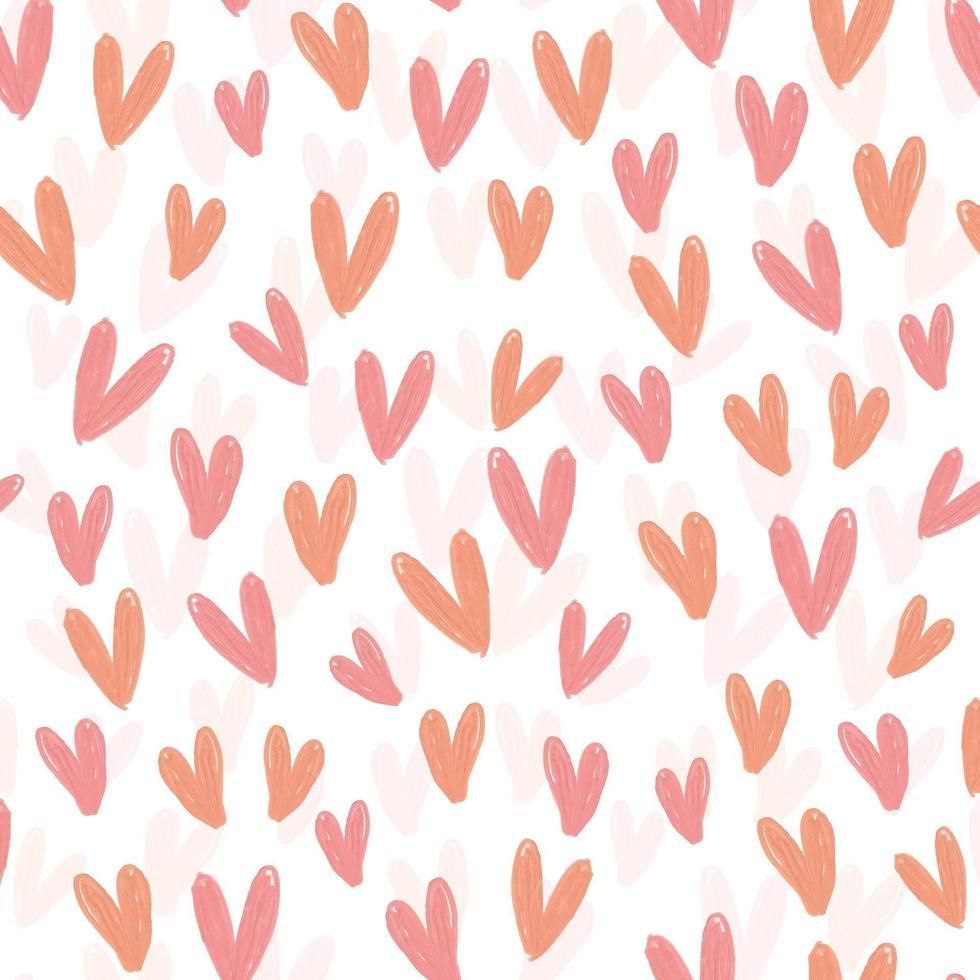 seamless pattern carino giorno di San Valentino sfondo da forma di cuore vettore