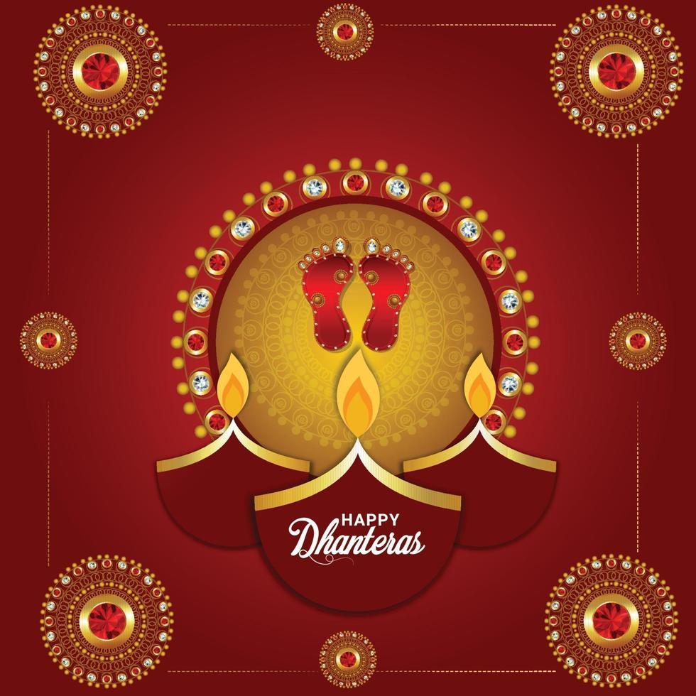felice festival dhanteras di sfondo india vettore