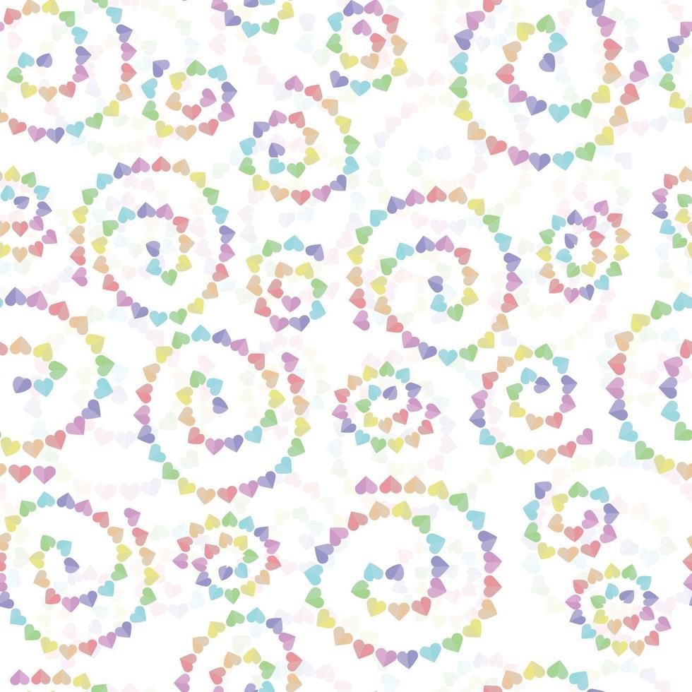 sfondo modello decorazione senza soluzione di continuità con la linea cuore multicolore vettore
