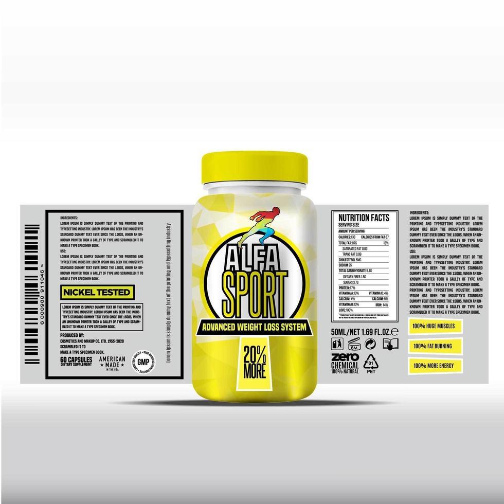 etichetta della bottiglia, design del modello di pacchetto, design dell'etichetta, modello di etichetta di design mock up vettore