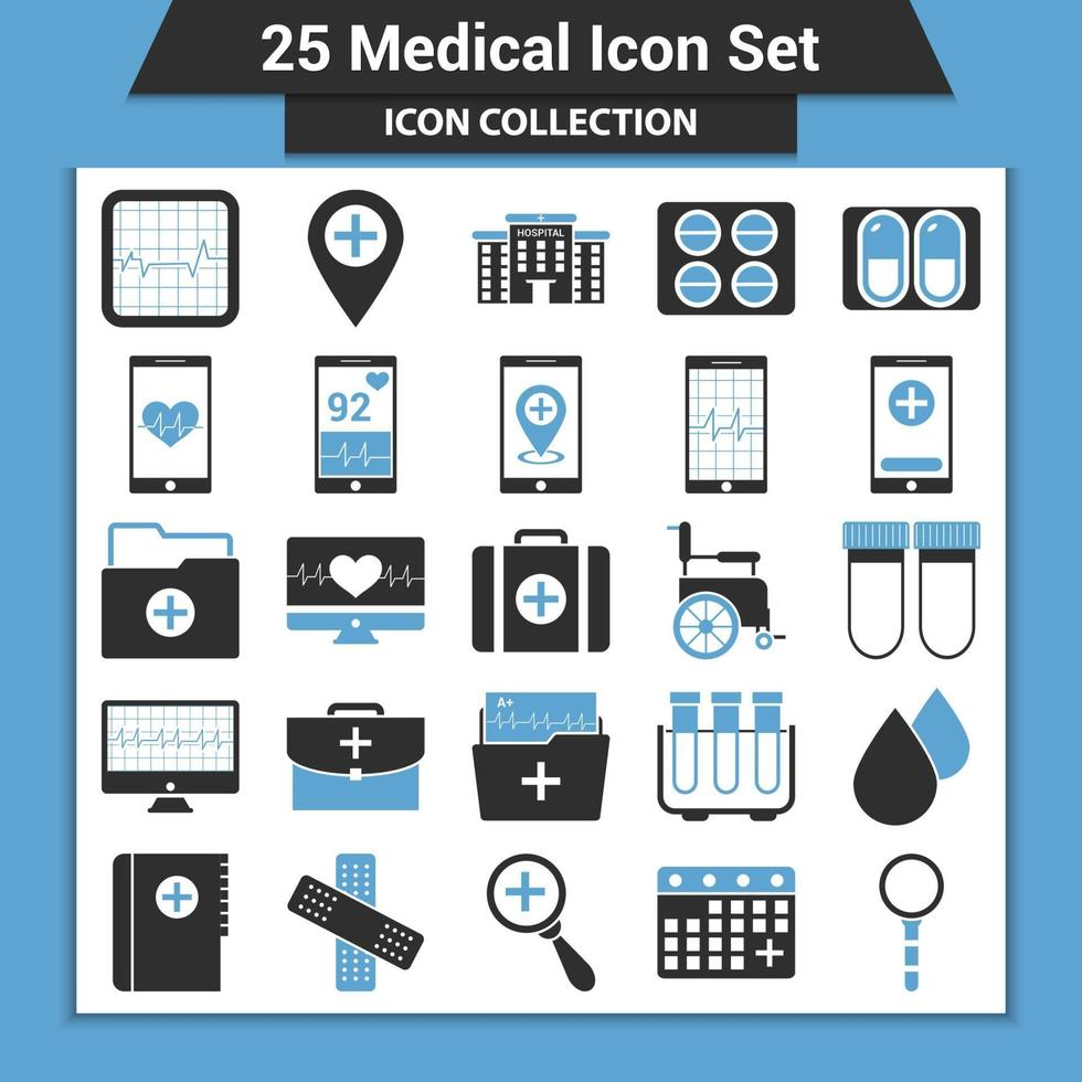 set di icone mediche vettore