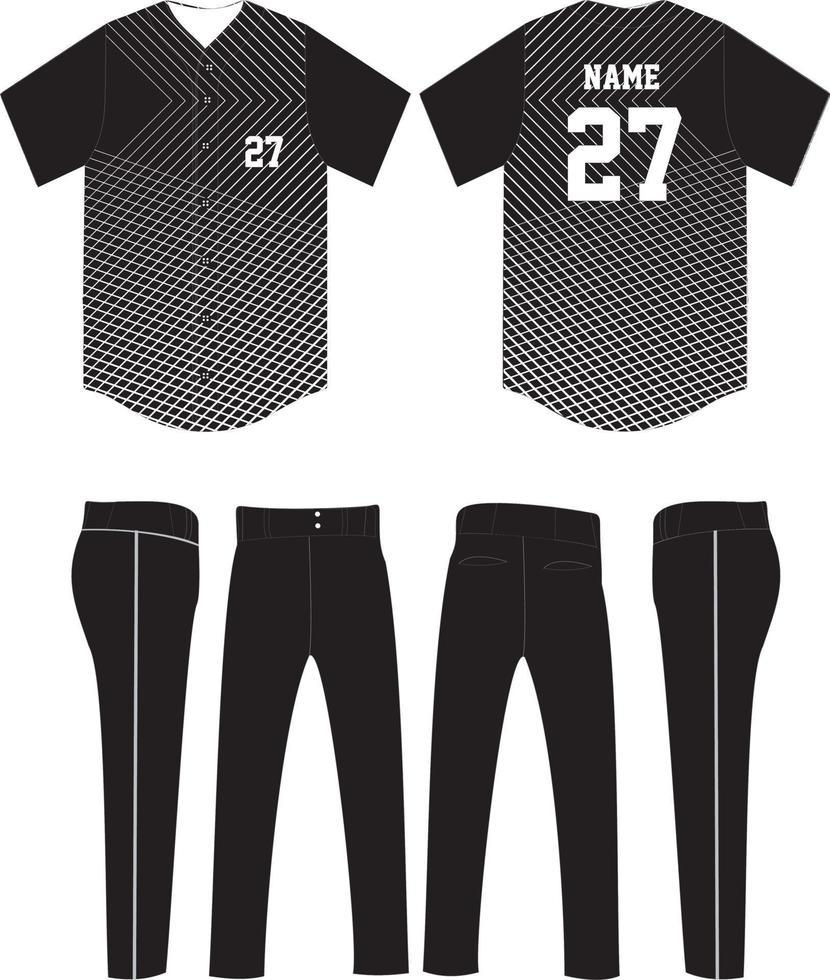 mockup di modello uniforme di design jersey da baseball vettore