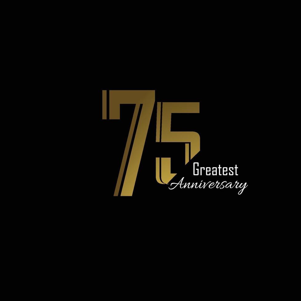 anniversario logo vettoriale modello design illustrazione oro e nero