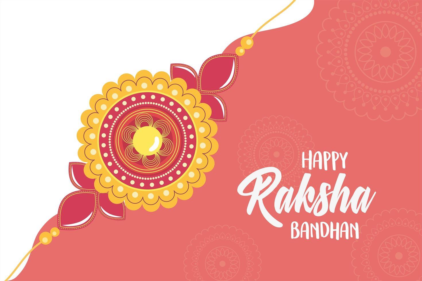 raksha bandhan, celebrazione tradizionale indiana con cinturino vettore