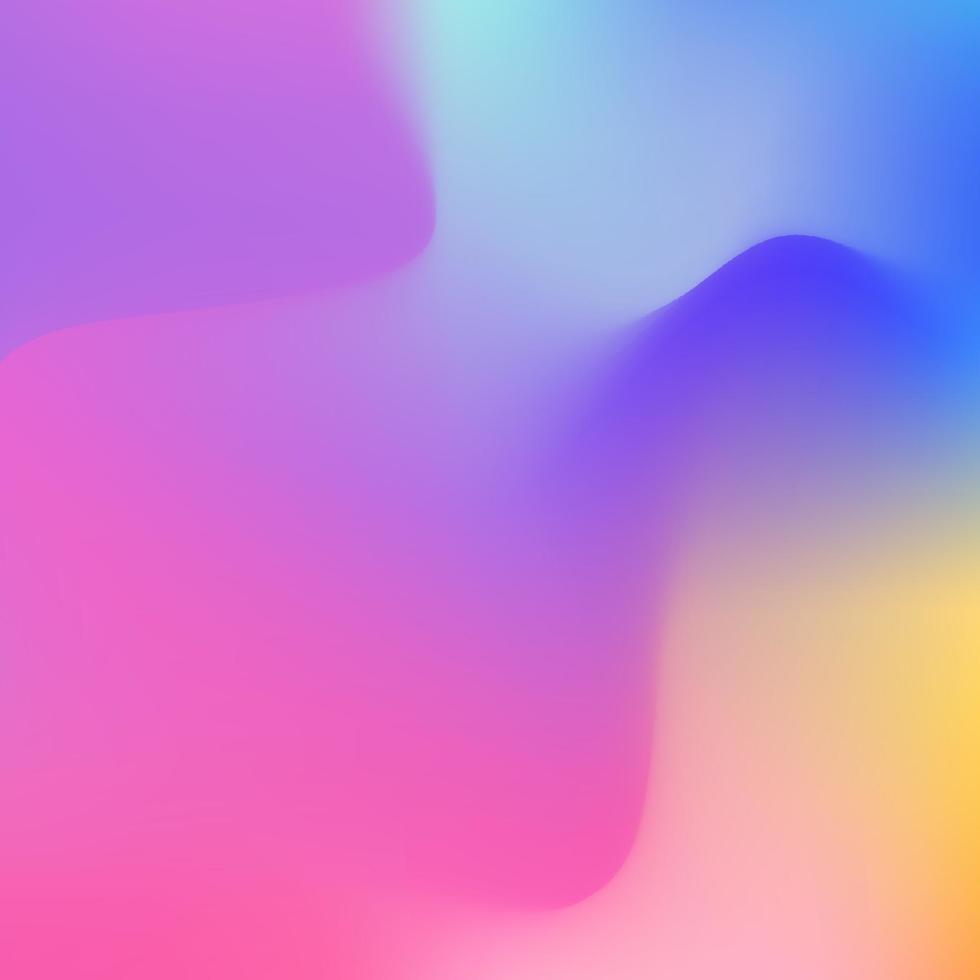 sfondo olografico astratto in design color neon pastello. carta da parati sfocata. illustrazione vettoriale per le tue tendenze di stile moderno 80s 90s background per il design creativo