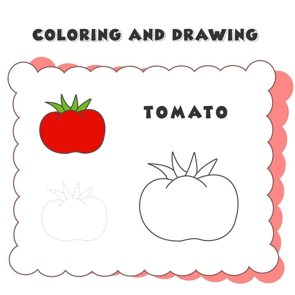 Libro Da Colorare E Disegno Elemento Pomodoro Pagina Da Colorare Di Pomodoro Colorare Frutta E Verdura Per Bambini Facile E Divertente 2059678 Scarica Immagini Vettoriali Gratis Grafica Vettoriale E Disegno Modelli