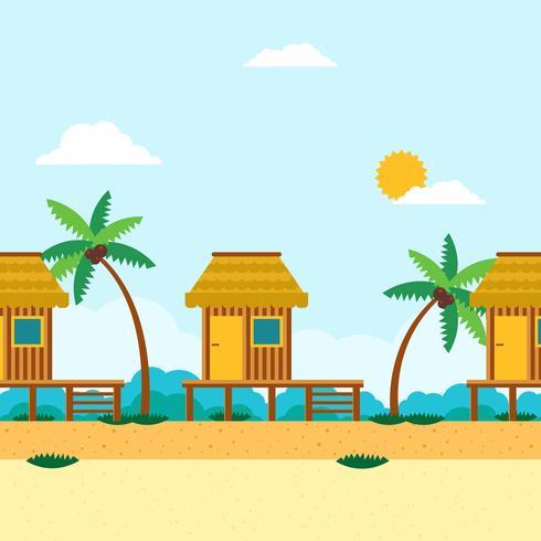 illustrazione del beach resort vettore