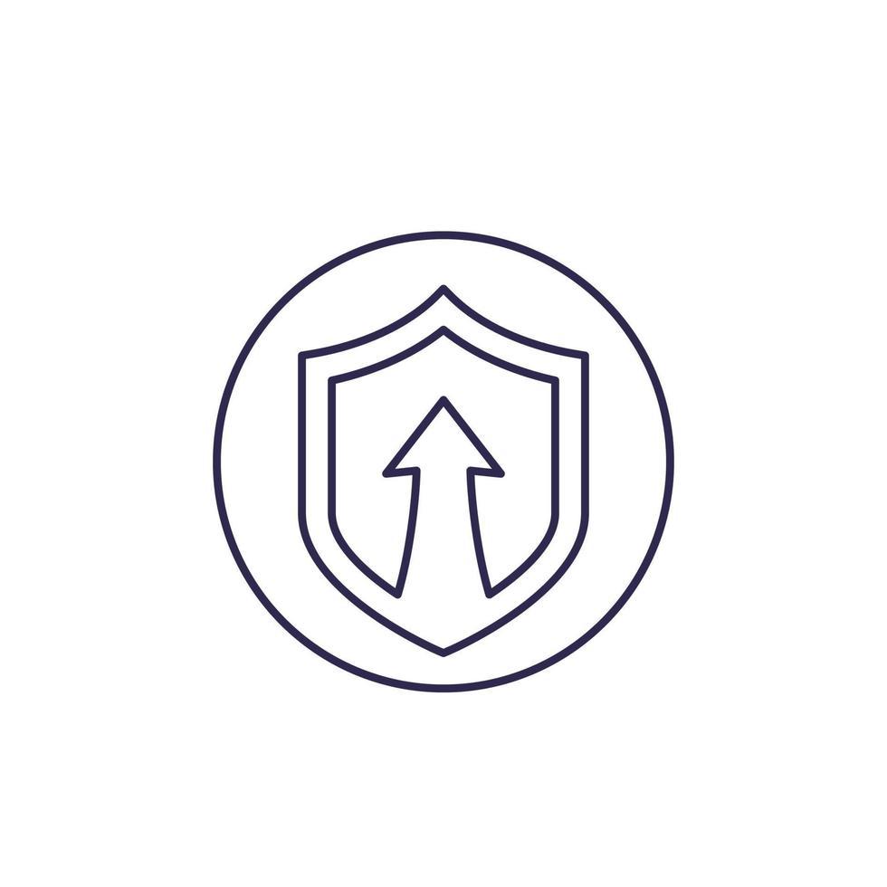 icona di aumento della sicurezza, linea vector.eps vettore