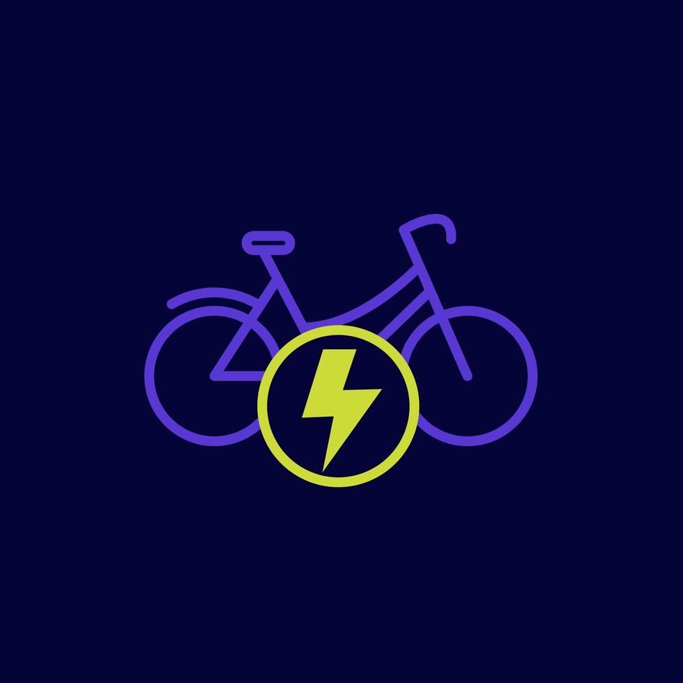 bicicletta elettrica, icona della bici, vector.eps vettore