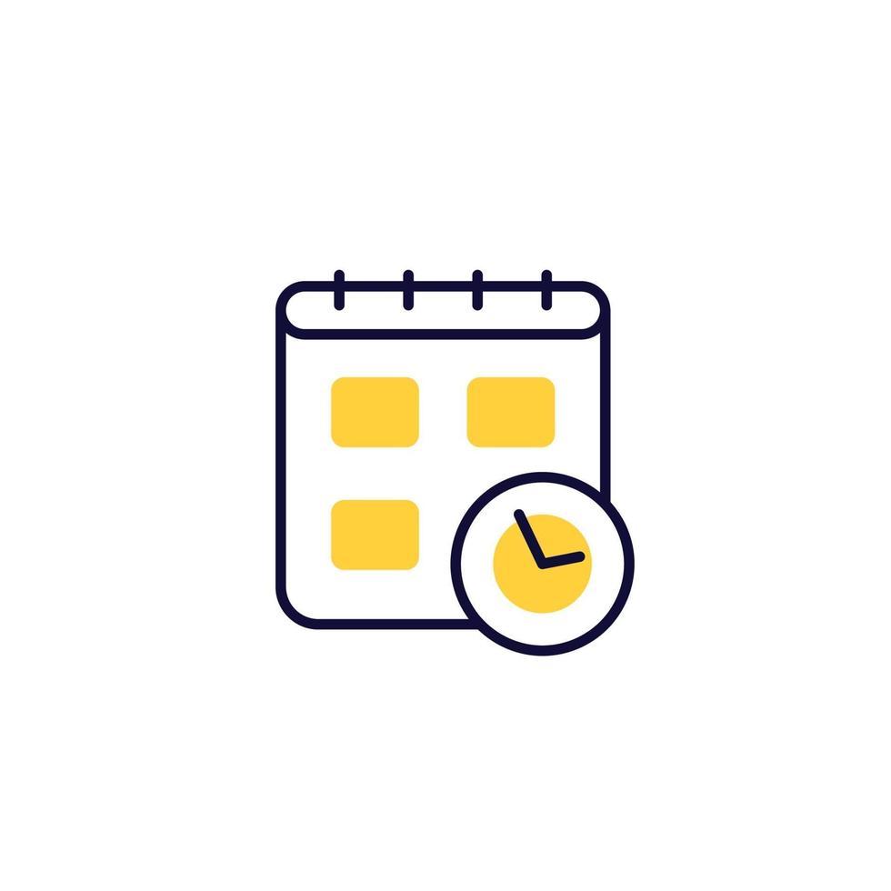 pianificazione icona vettore su white.eps