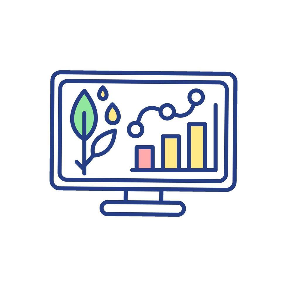 icona colore rgb statistiche agricole vettore