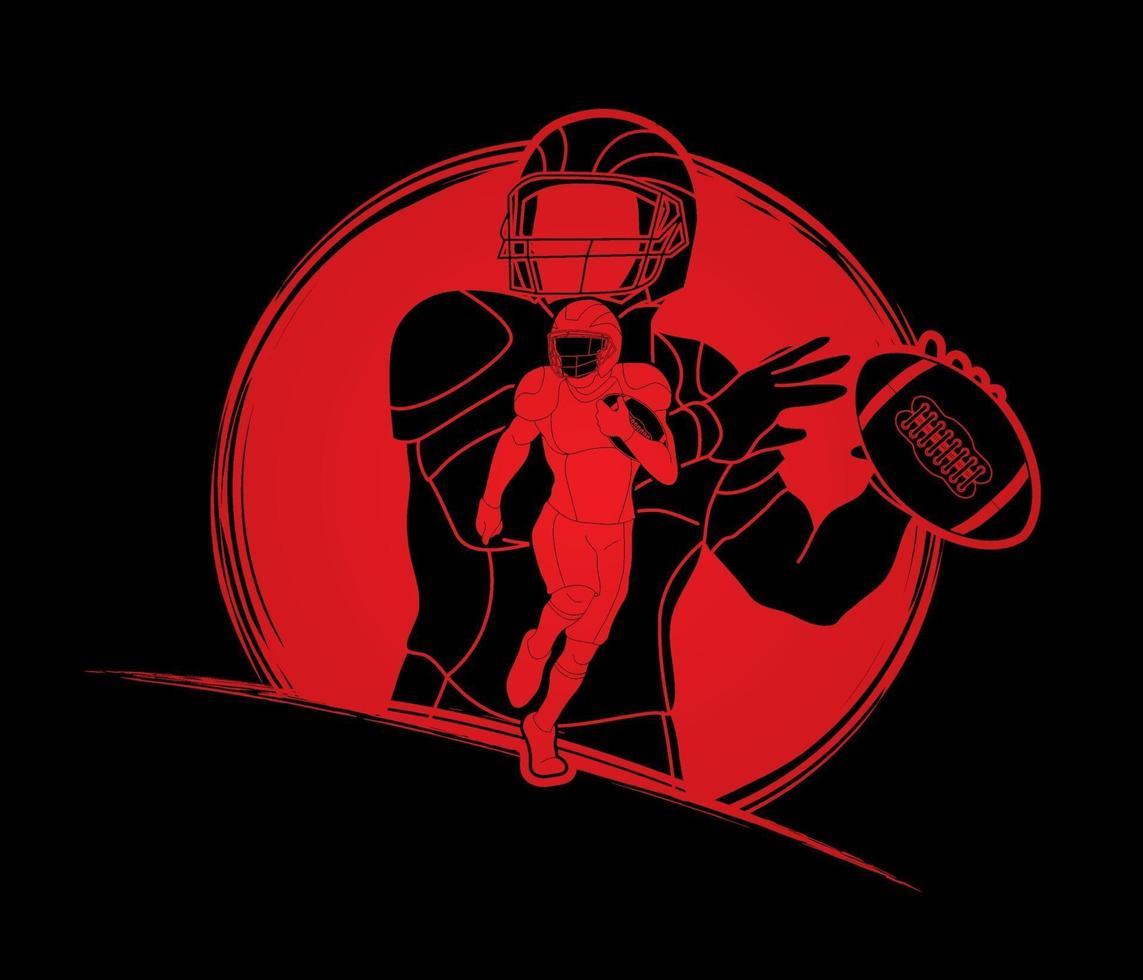 giocatori di football americano vettore