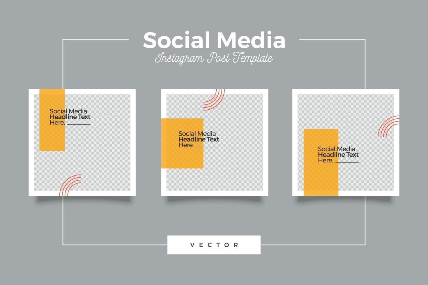pulito e moderno set di modelli di social media vettore