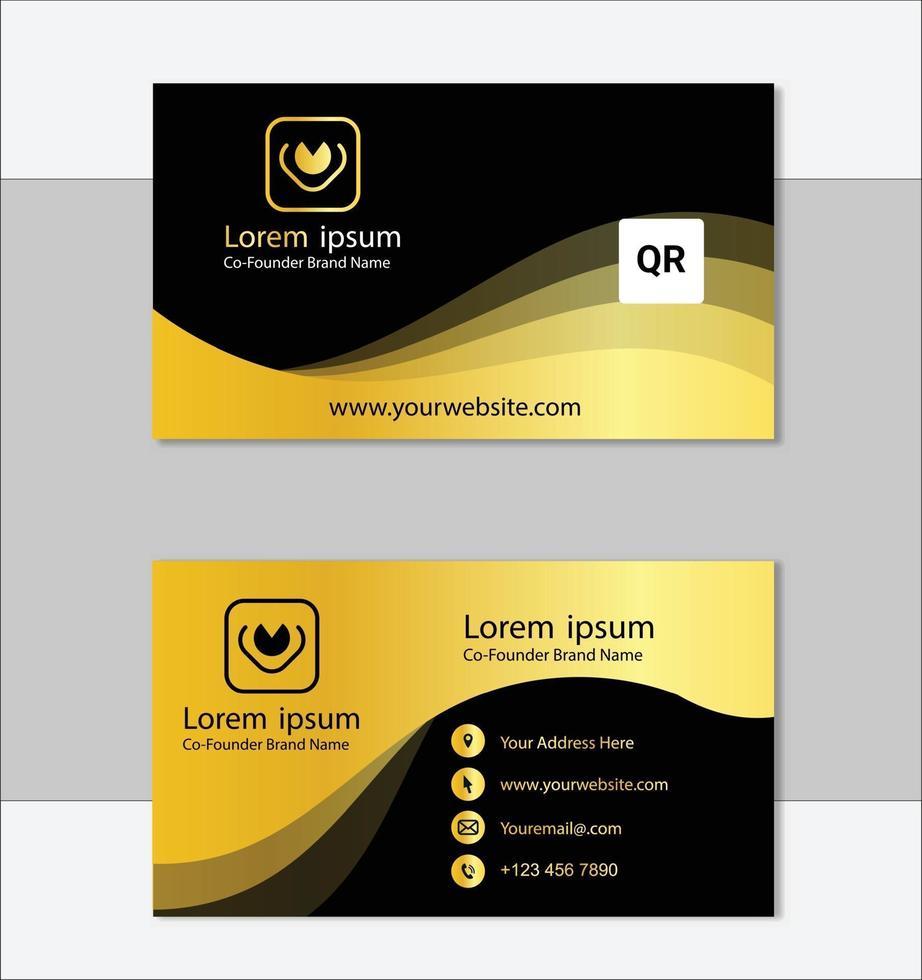 modello di biglietto da visita professionale dorato vettore