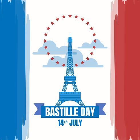 Giorno della presa della Bastiglia dell'illustrazione francese di festa nazionale vettore