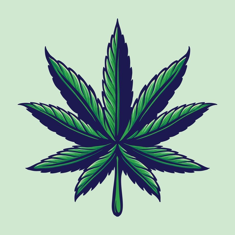 foglia di cannabis logo colorato illustrazione vettore