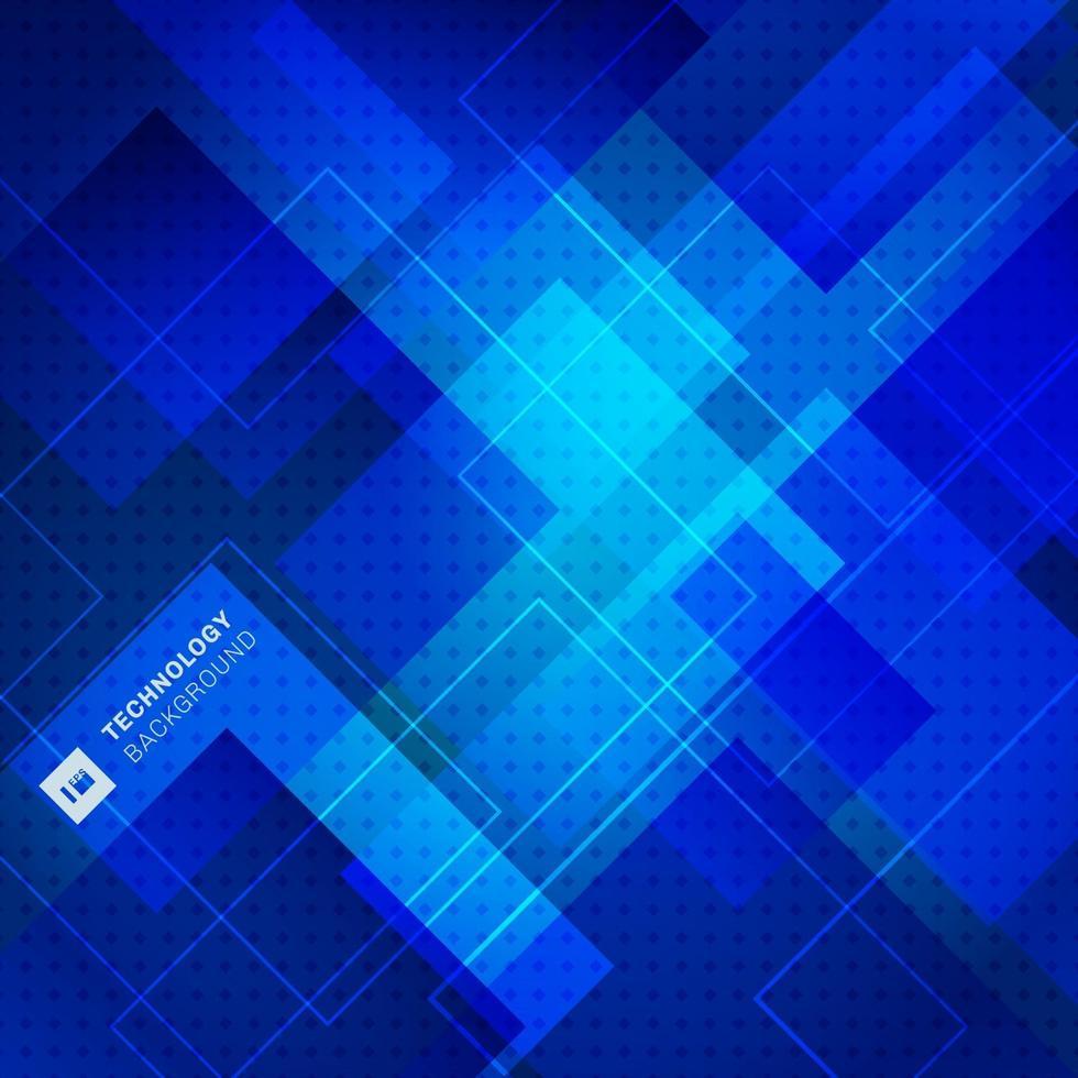 fondo e struttura della sovrapposizione del quadrato geometrico blu astratto. vettore