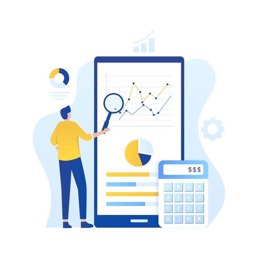 concetto di illustrazione di audit online vettore