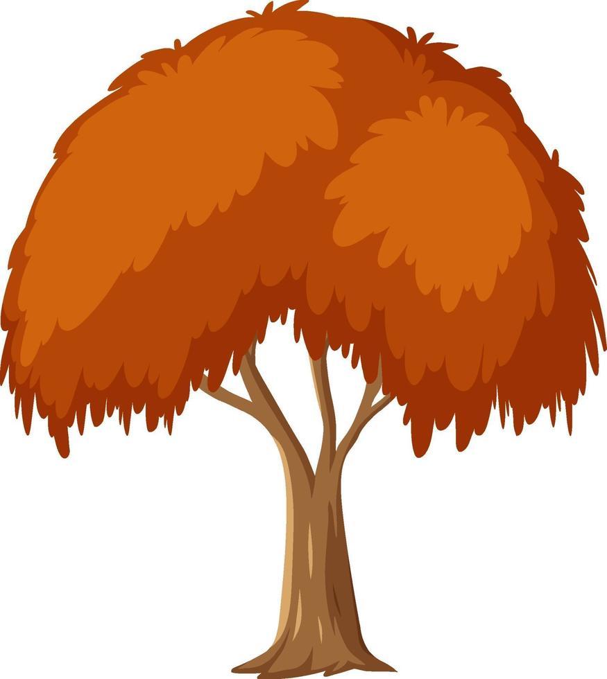albero di autunno isolato su priorità bassa bianca vettore