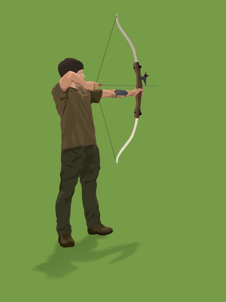 tiro con l'arco sport sul grafico illustrazione vettoriale