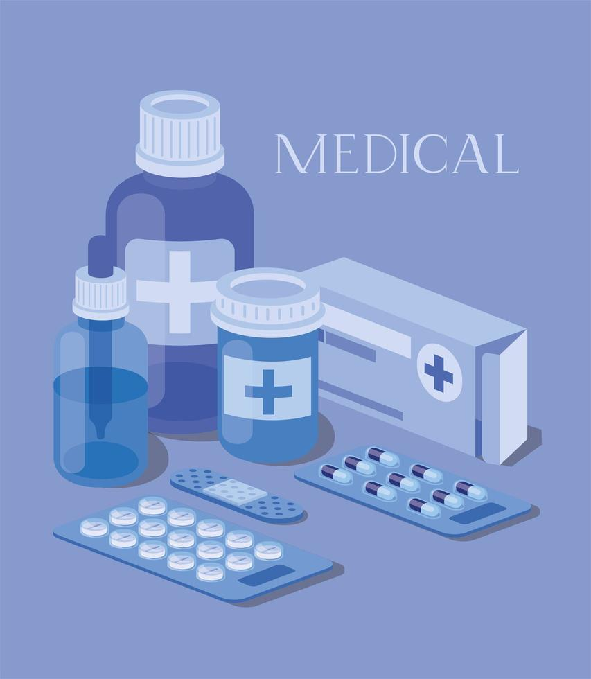 set di icone mediche illustrazione vettoriale