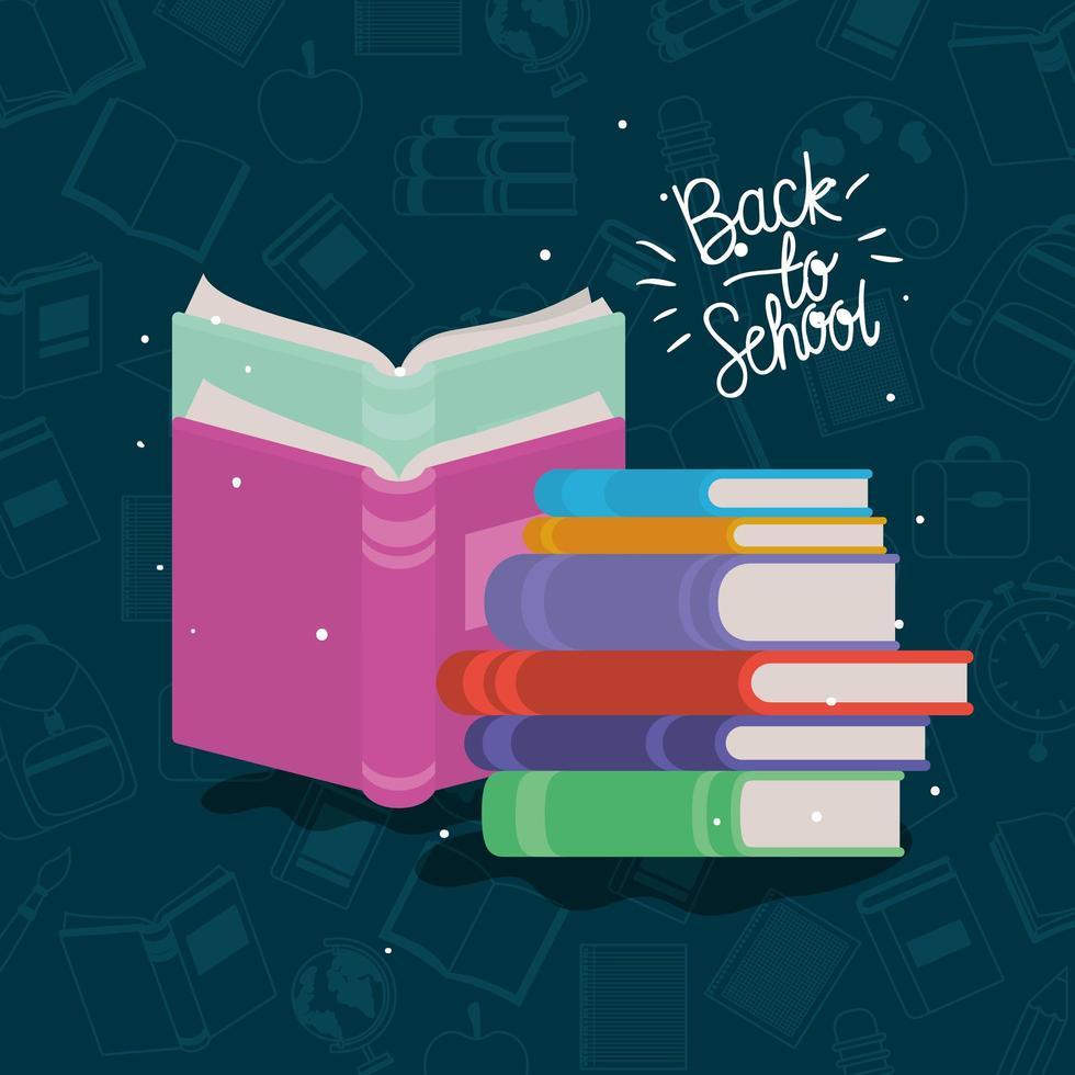forniture di libri di testo a scuola vettore