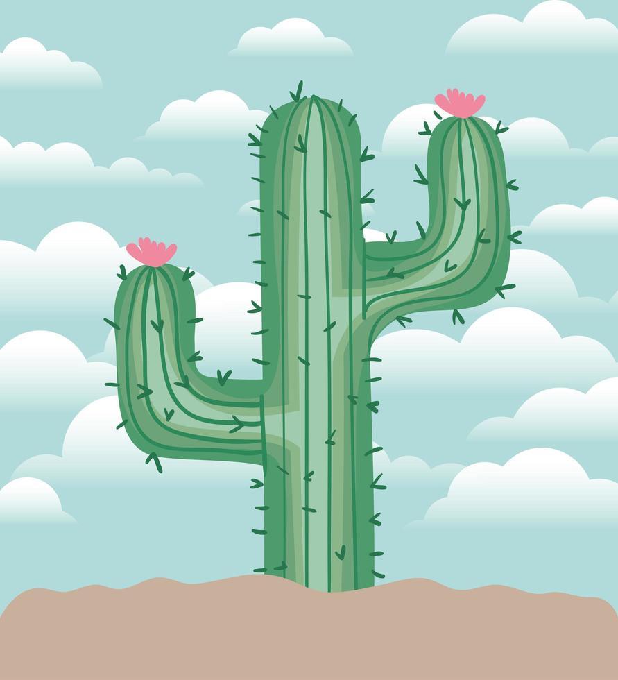 cactus in un giardino vettore