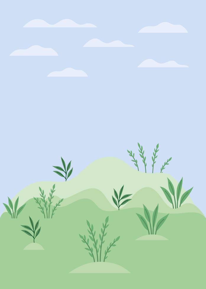 illustrazione vettoriale di campo campo paesaggio scena