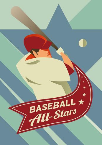 baseball all-star vettore
