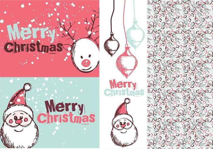 Santa Tag Brushes & Illustrator Pattern vettore
