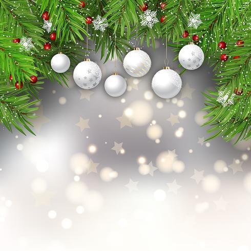 Sfondo di palline di Natale vettore
