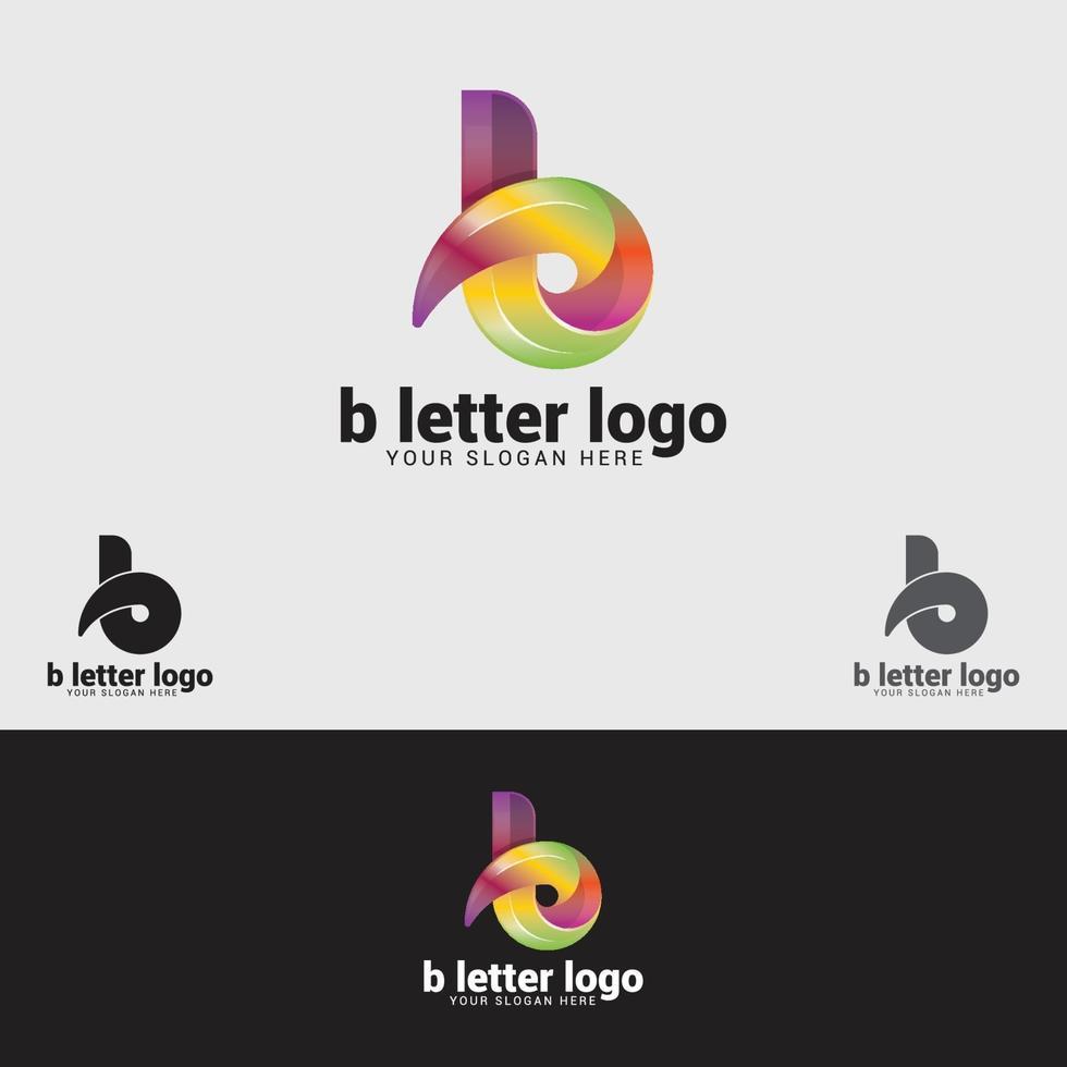 modello di progettazione del logo della lettera b vettore