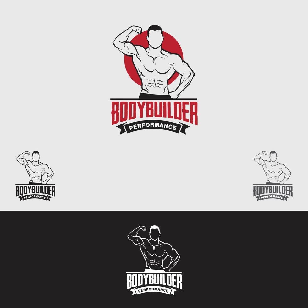 modello di progettazione logo palestra fitness vettore