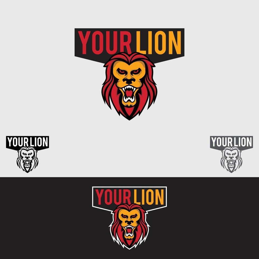 il tuo modello di vettore di progettazione del logo del leone