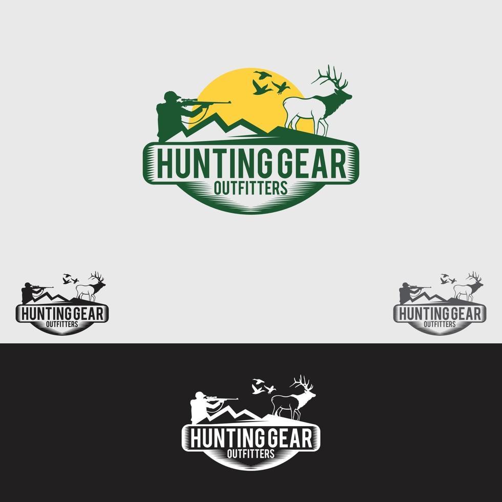 modello di vettore di progettazione di logo di caccia