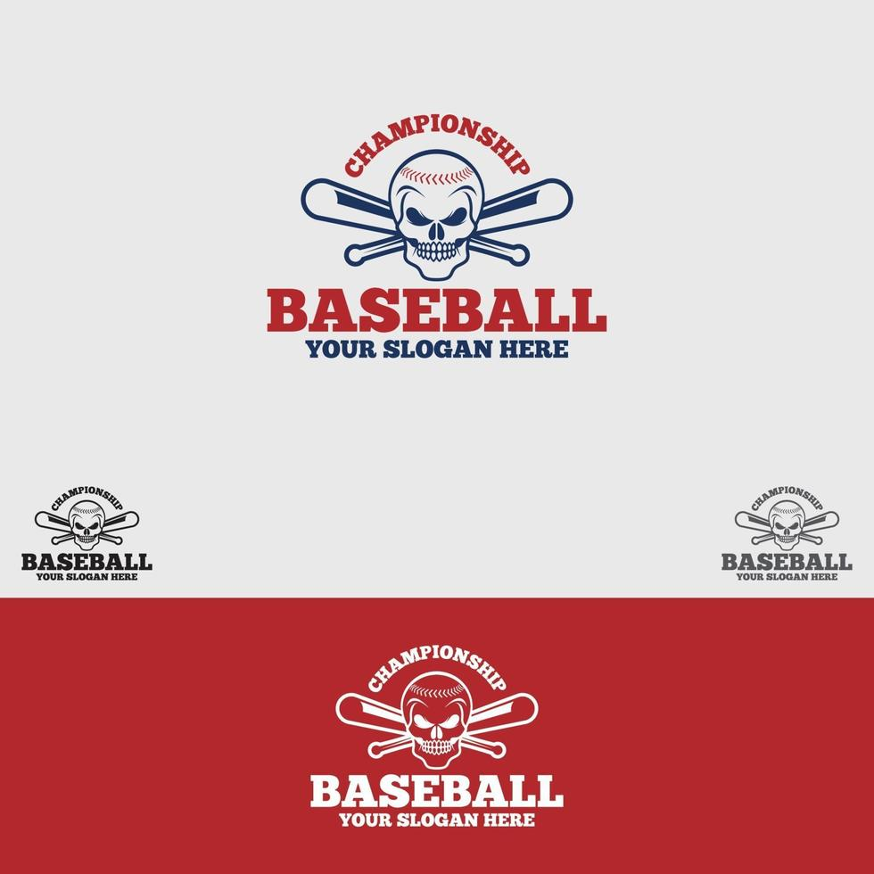 modello di vettore di progettazione di logo di baseball
