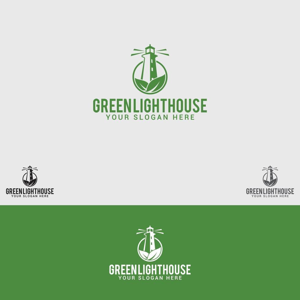 modello di vettore di progettazione di logo di casa verde-luce