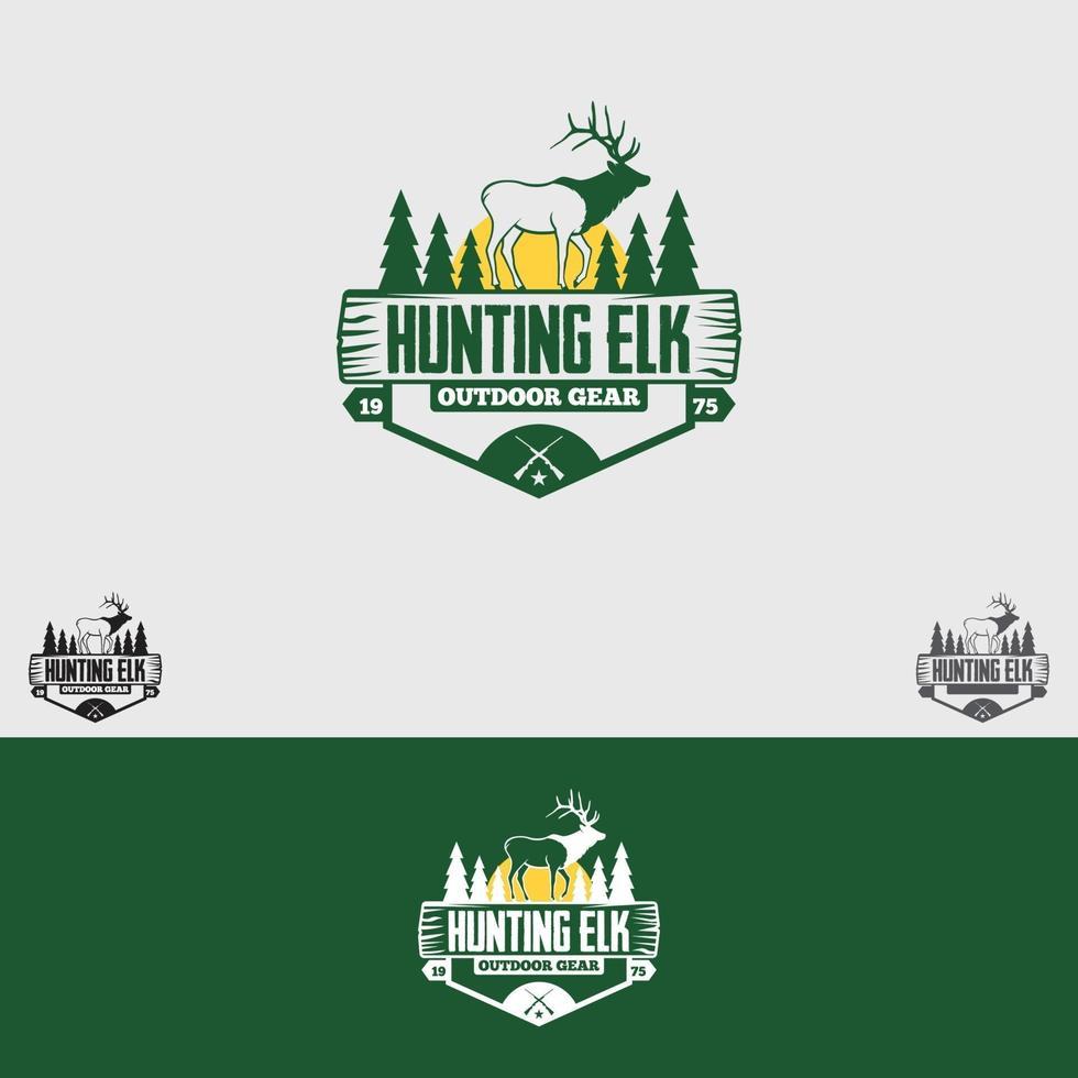 modello di progettazione del logo del club di caccia vettore