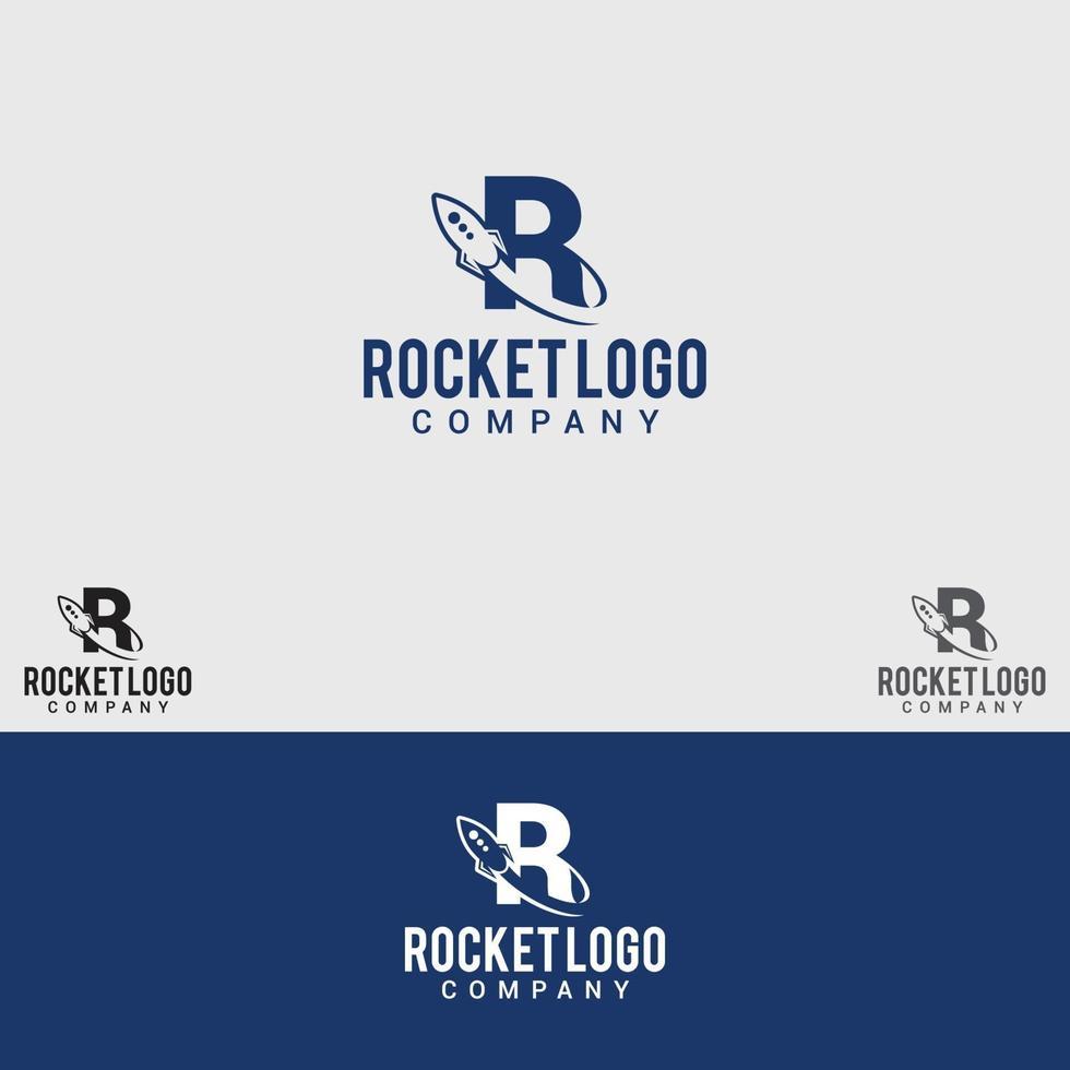 modello di vettore di progettazione di logo di razzo