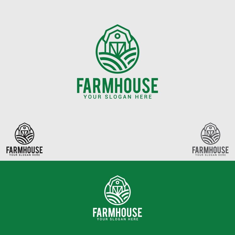 modello di vettore di progettazione di logo di casa di fattoria