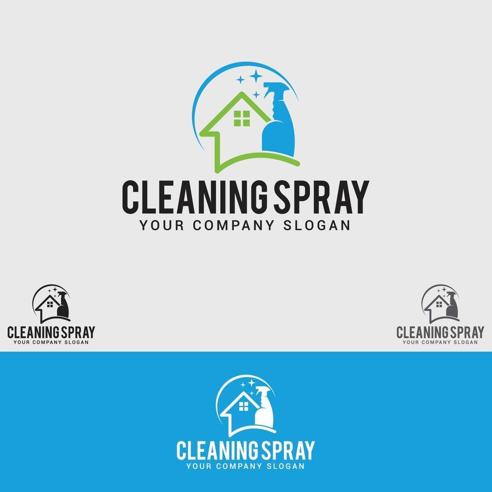 modello di progettazione del logo di pulizia spray vettore