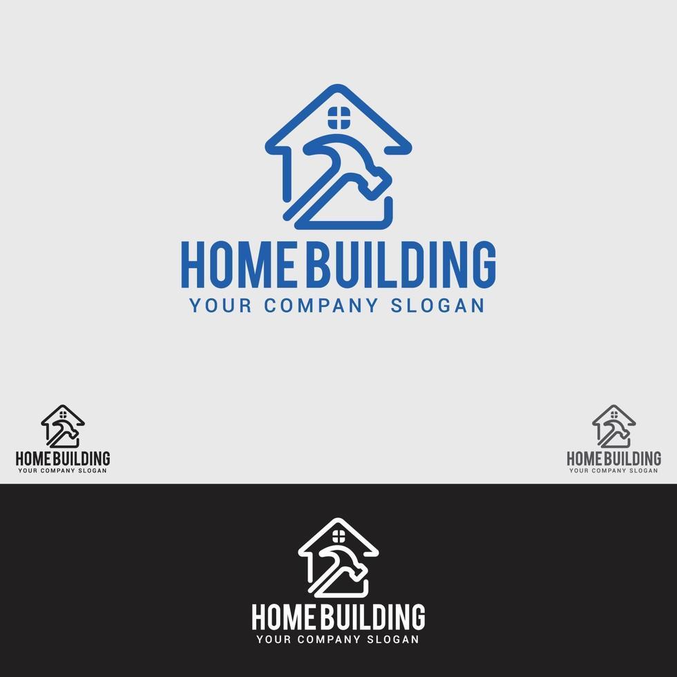 modello di progettazione di logo di edificio domestico vettore