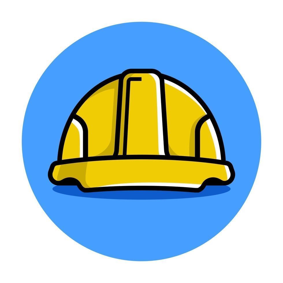 casco da costruzione giallo. illustrazione vettoriale piatta