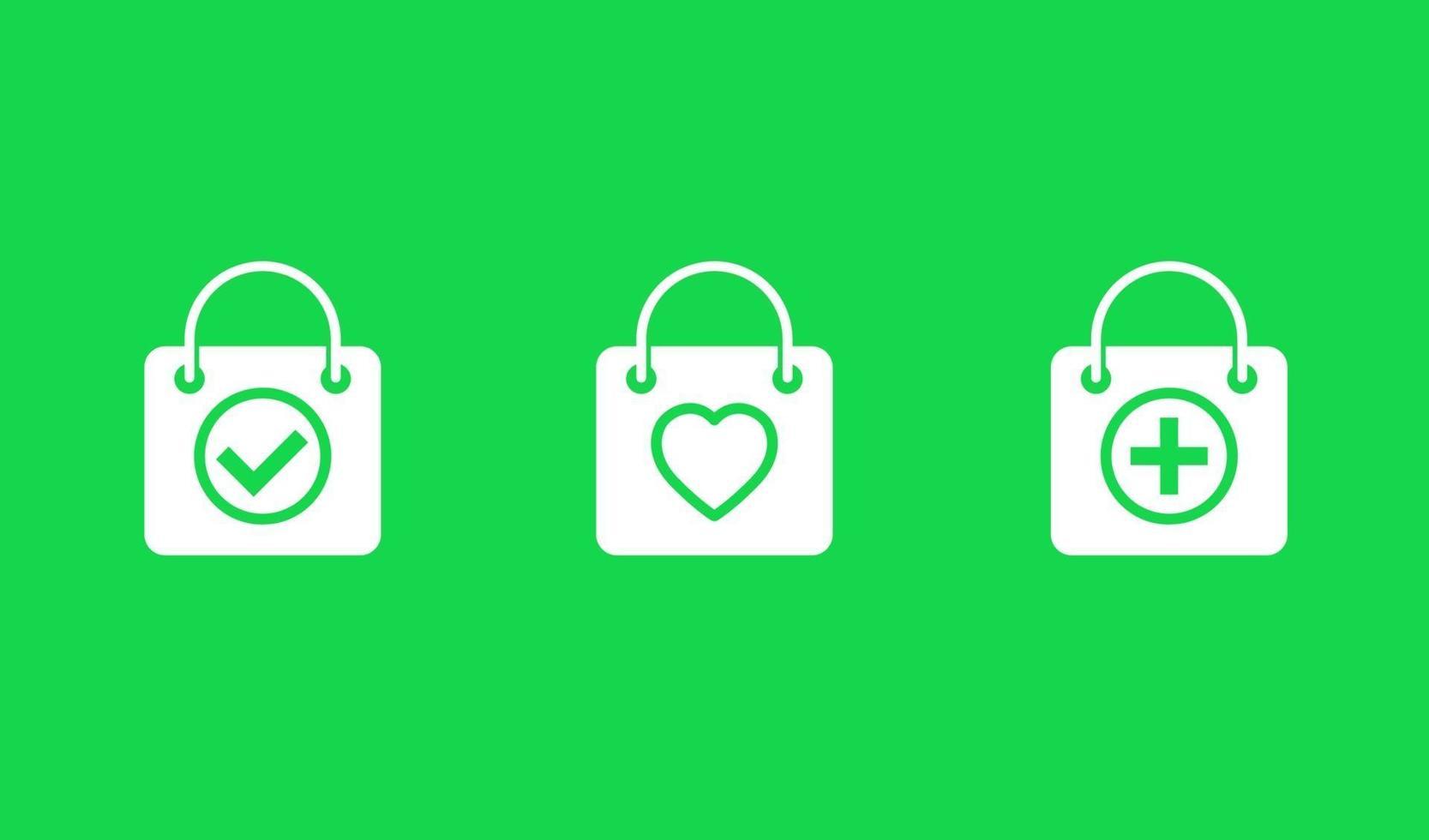 icone dello shopping online con bags.eps vettore