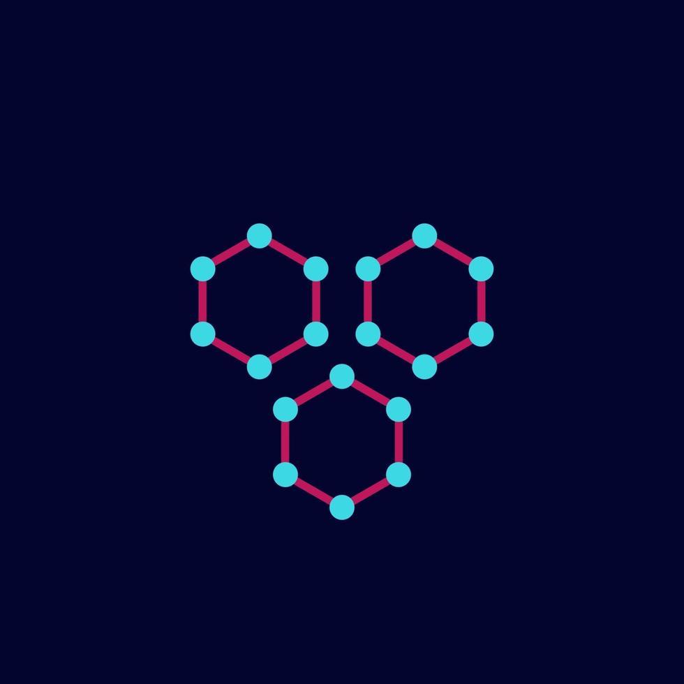 icona di nanoparticelle, scienza vector.eps vettore