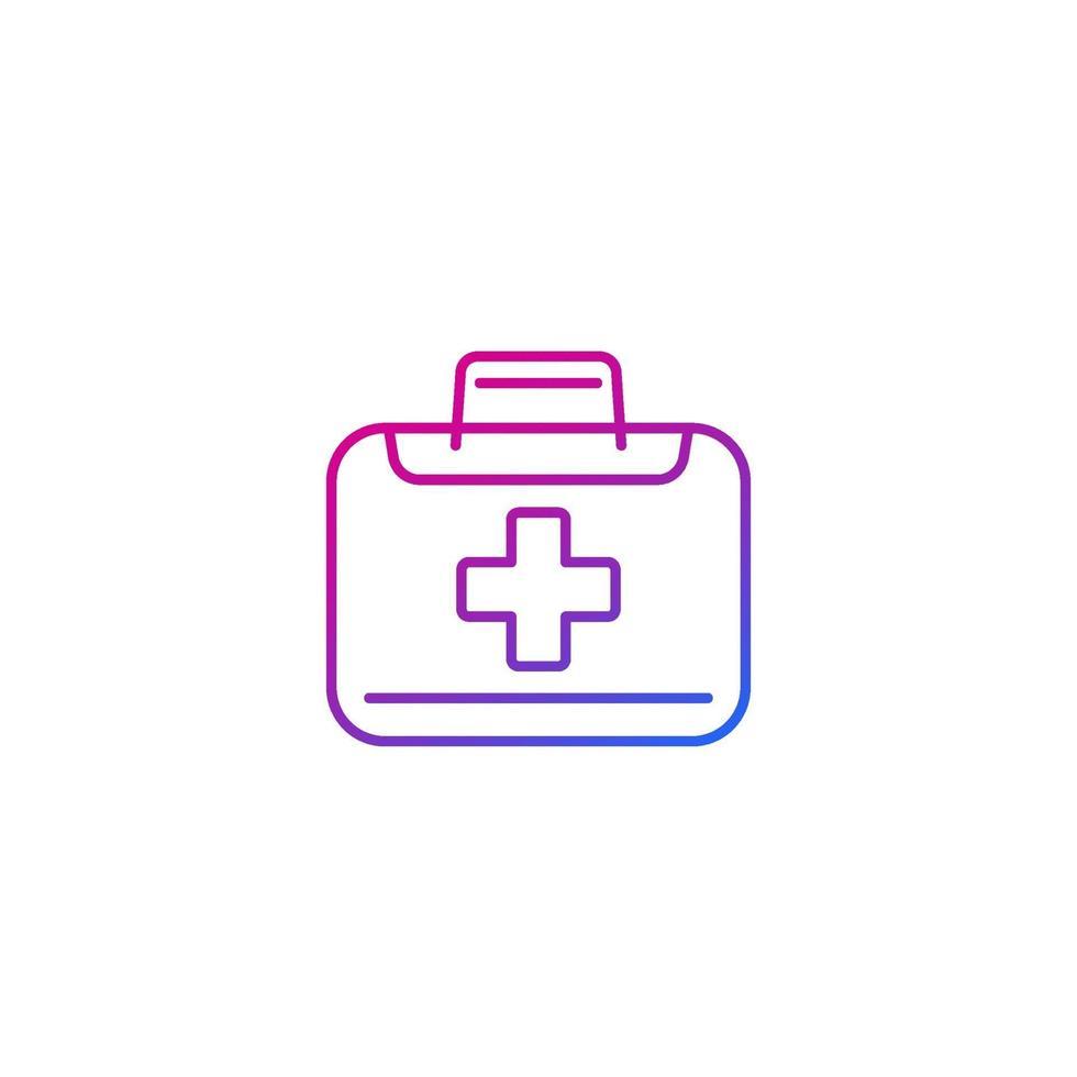 icona della borsa medica, linear.eps vettore