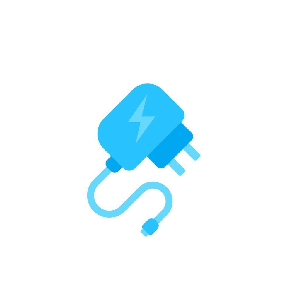 icona di vettore del caricatore mobile, design piatto.eps