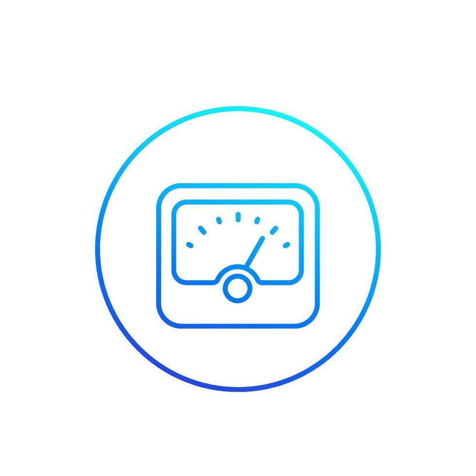 icona del misuratore, linea vector.eps vettore