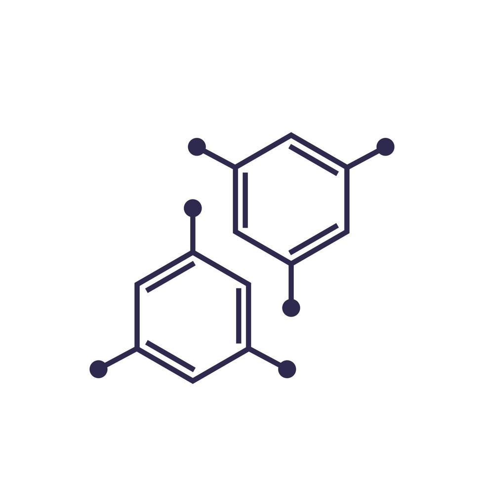 molecola, icona su bianco, vector.eps vettore