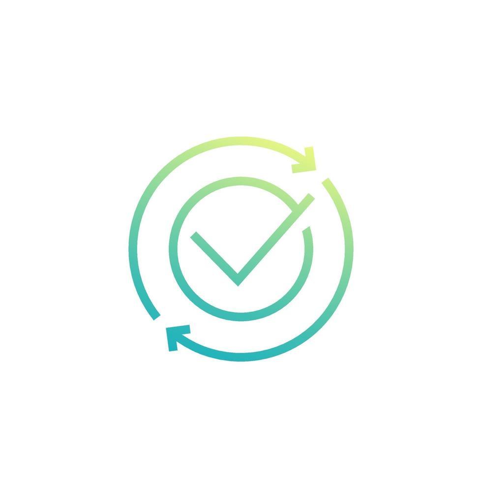 scambio, icona di conversione completata, linea vector.eps vettore